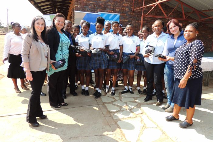 Eskom CSI donates 200 Re-usable Sanitary Towels